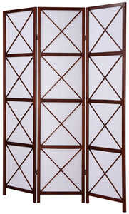 3-Panel Screen Room Divider - Walnut