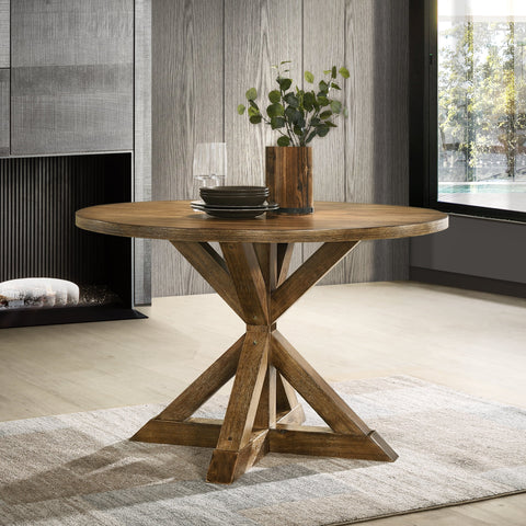 Windvale Cross-Buck Base Dining Table