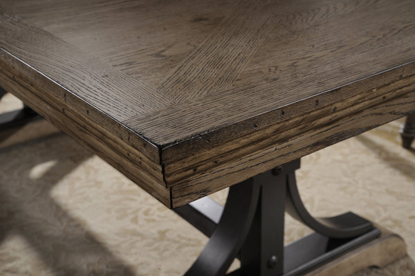 Dasher Nailhead Driftwood Finish Table