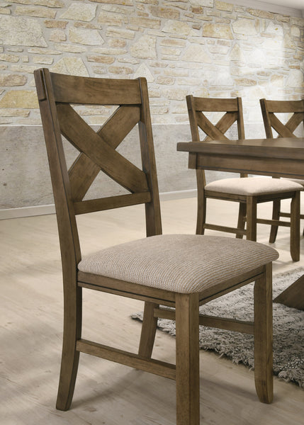 Raven Wood Dining Set: Butterfly Leaf Table, Four Chairs