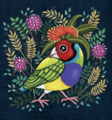 Gouldian Finch greeting card by Sandra Kendell - Australian gifts and souvenirs