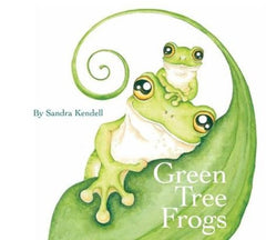 Green Tree Frogs childrens book by Sandra Kendell on Stylish Australiana Australian childrens gift