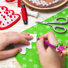 Reuse Christmas paper for craft, or donate to your local kindy