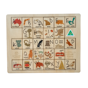 Australian gift for children native timber puzzle