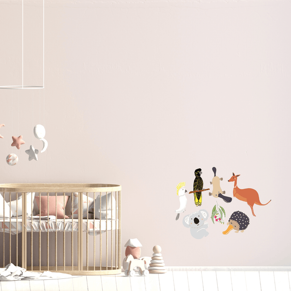Australiana reusable fabric wall stickers