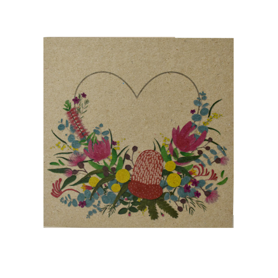 Native Australian flowers made in Australia greeting card
