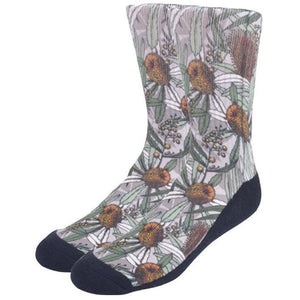 Banksia socks - Stylish Australiana - Ethical Australian Gifts and Souvenirs