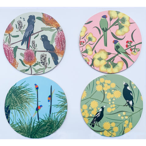 Native Australian Bird coasters