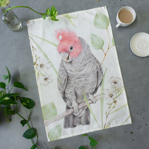 Gang Gang Cockatoo Tea Towel - Stylish Australiana - Ethical Australian Gifts and Souvenirs