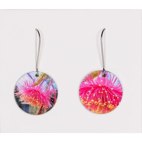 Native Austalian gum blossom reversable earrings