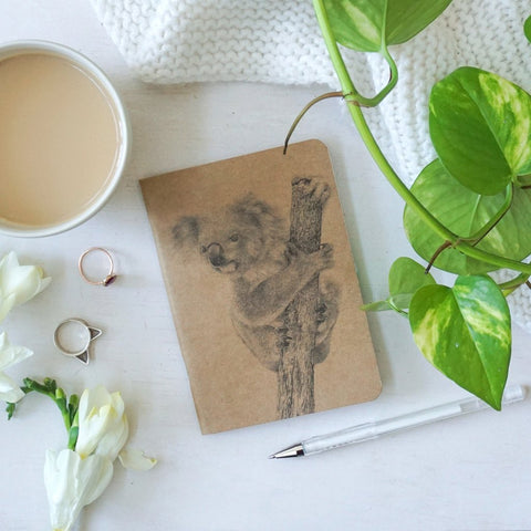 Koala Notebook - Stylish Australiana - Ethical Australian Gifts and Souvenirs