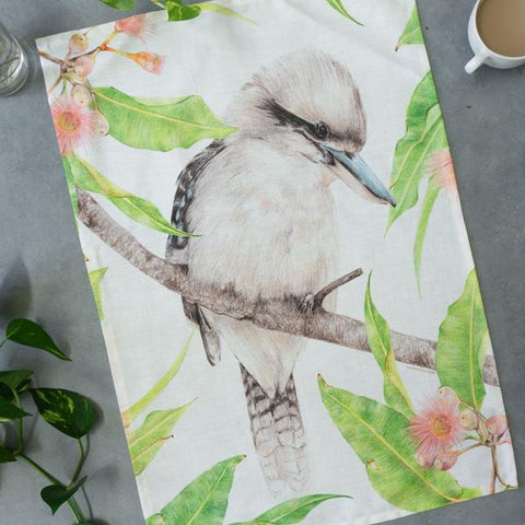 Kookaburra Tea Towel - Stylish Australiana - Ethical Australian Gifts and Souvenirs