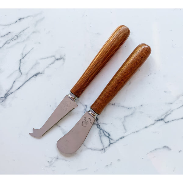 Native Australian timber gift - Tasmanian Blackwood cheese and pate knife set