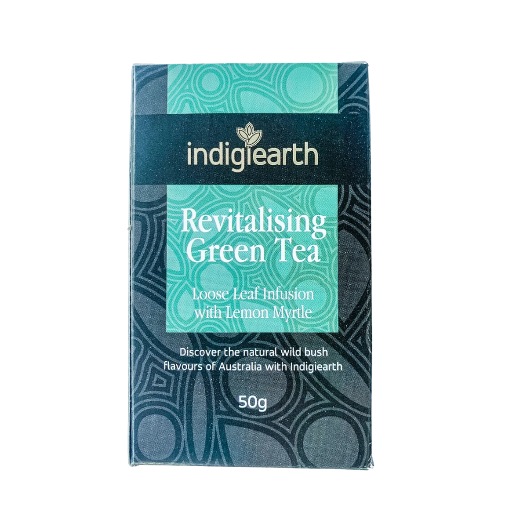Australian grown and blended green tea with native bush botanicals