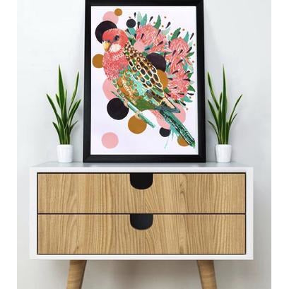 Eastern Rosella - A3 Art Print - Stylish Australiana - Ethical Australian Gifts and Souvenirs