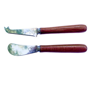 Native Australian timber cheese knife and pate knife set