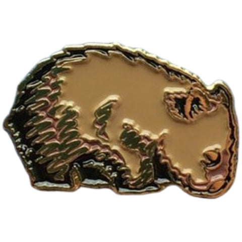 Wombat enamel pin - Stylish Australiana - Ethical Australian Gifts and Souvenirs