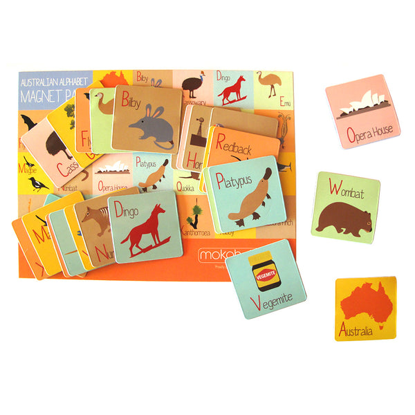 Australian Alphabet Magnet Set - Stylish Australiana - Ethical Australian Gifts and Souvenirs