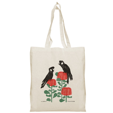 Black Cockatoo Tote Bag - Stylish Australiana - Ethical Australian Gifts and Souvenirs