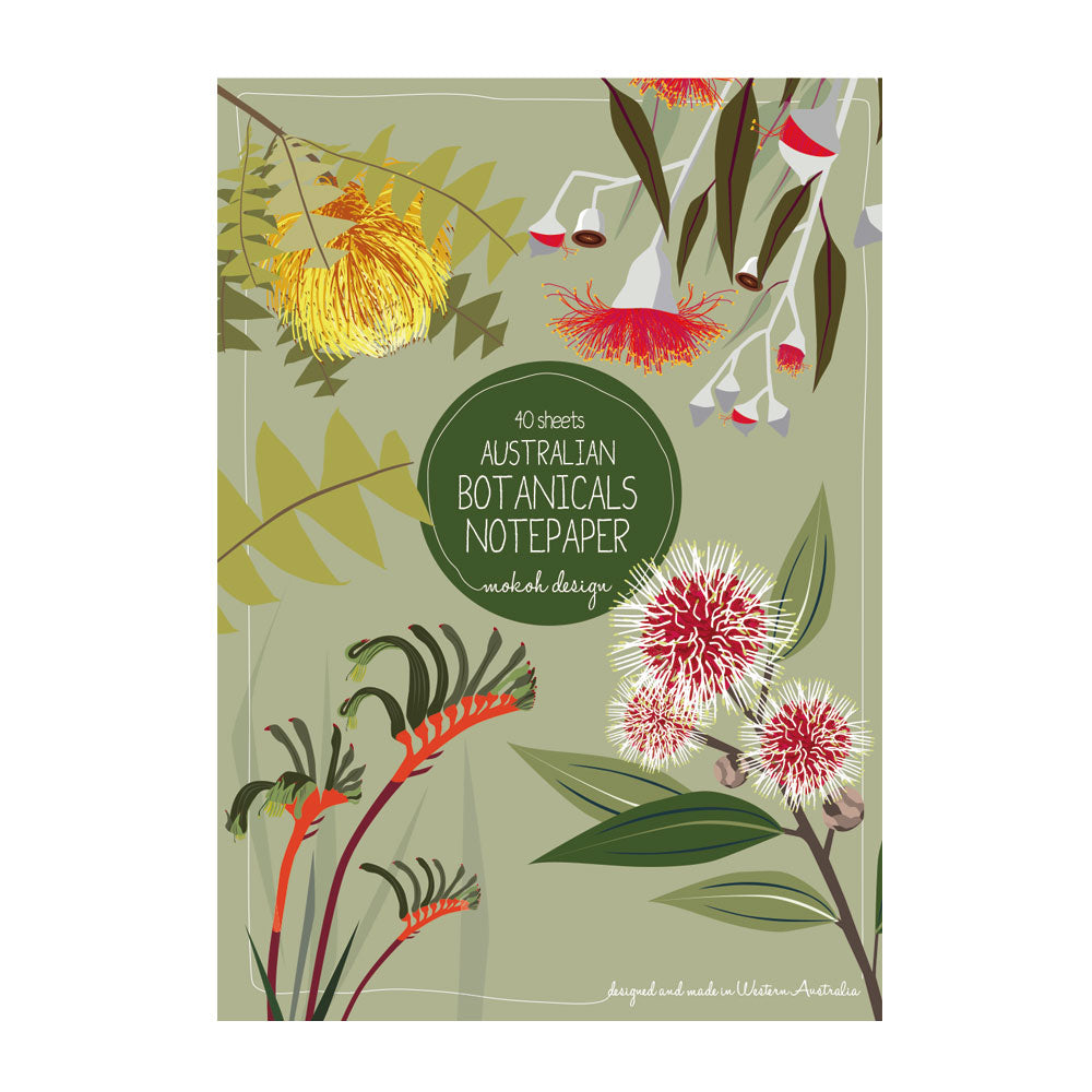 Australian Florals Notepad - Stylish Australiana - Ethical Australian Gifts and Souvenirs