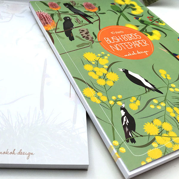 Bush Birds Notepad - Stylish Australiana - Ethical Australian Gifts and Souvenirs