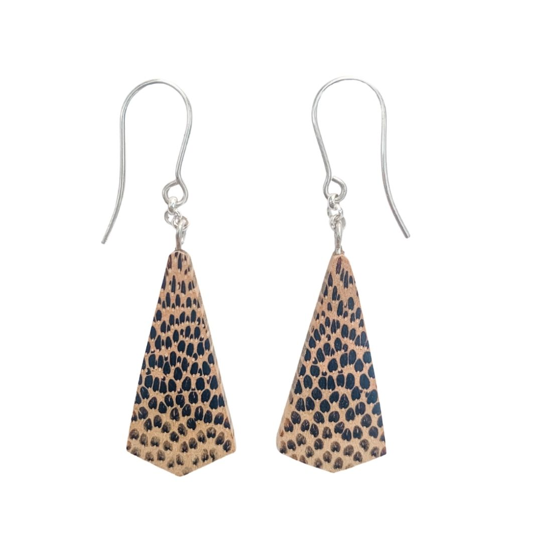 Australian palm timber earrings
