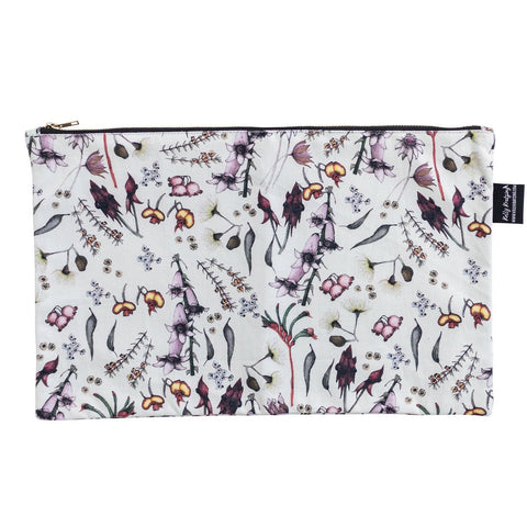 Native Australia wild flowers floral pouch pencil case ideal  gift