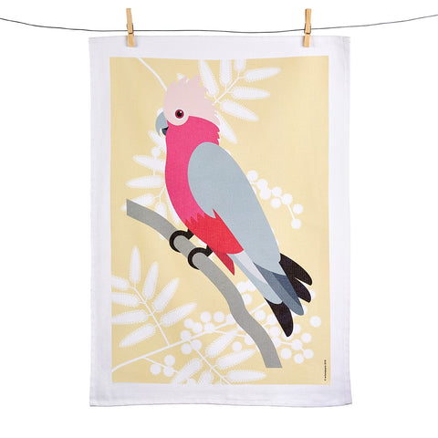 Galah Tea Towel - Stylish Australiana - Ethical Australian Gifts and Souvenirs