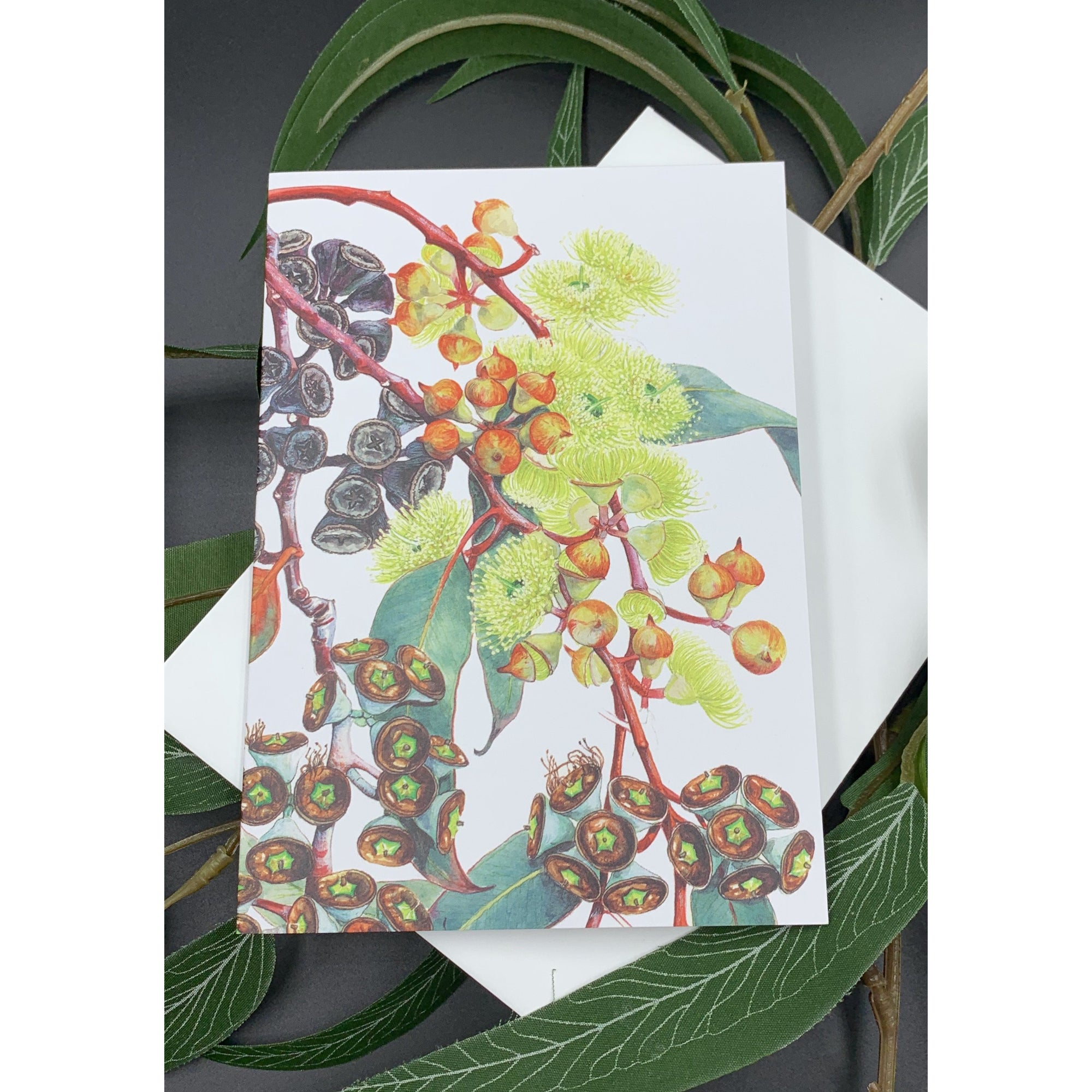 Greeting card - Lemon Flowered Mallee - Stylish Australiana - Ethical Australian Gifts and Souvenirs