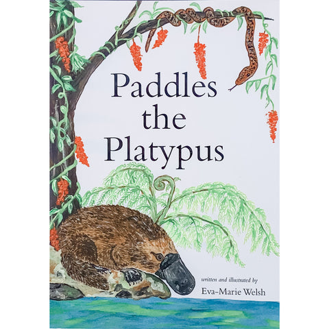 childrens story book platypus native australian animals