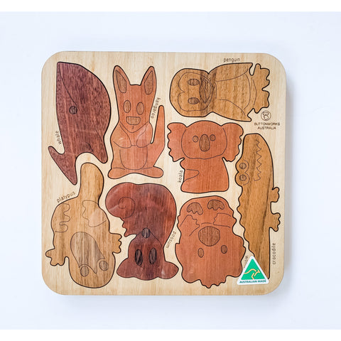 Australian gift for chlildren native animal puzzle made from native timber