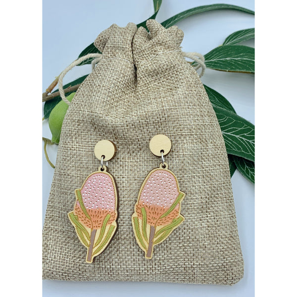Banksia earrings - Stylish Australiana - Ethical Australian Gifts and Souvenirs