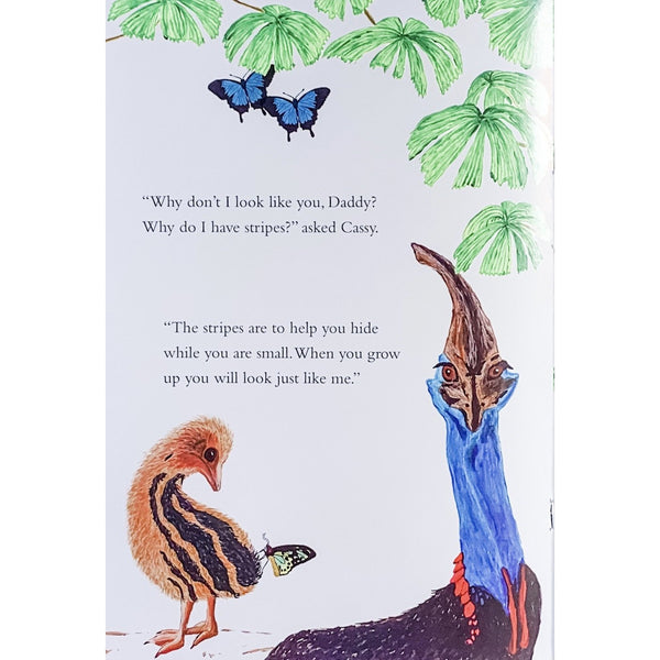 childrens book native australian birds kids story cassowary made in Australia