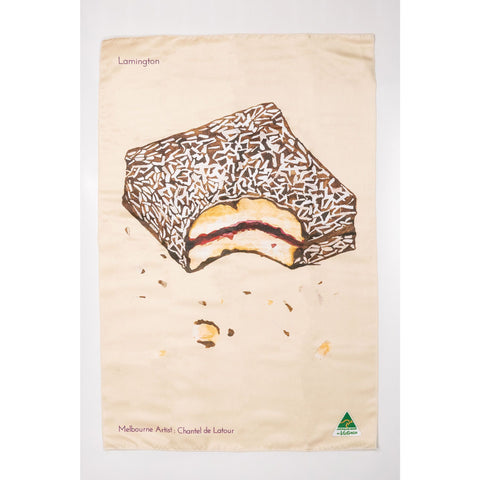 Lamington Tea Towel - Stylish Australiana - Ethical Australian Gifts and Souvenirs