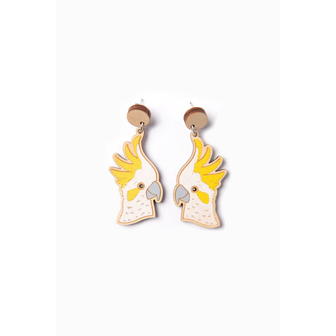 Cockatoo earrings - Stylish Australiana - Ethical Australian Gifts and Souvenirs