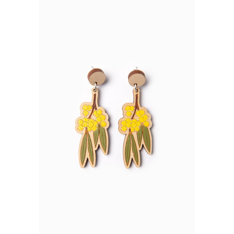 Golden wattle earrings - Stylish Australiana - Ethical Australian Gifts and Souvenirs