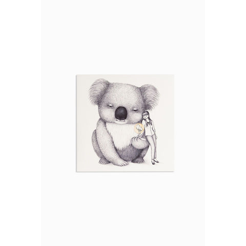 Greeting card - Giant Koala - Stylish Australiana - Ethical Australian Gifts and Souvenirs