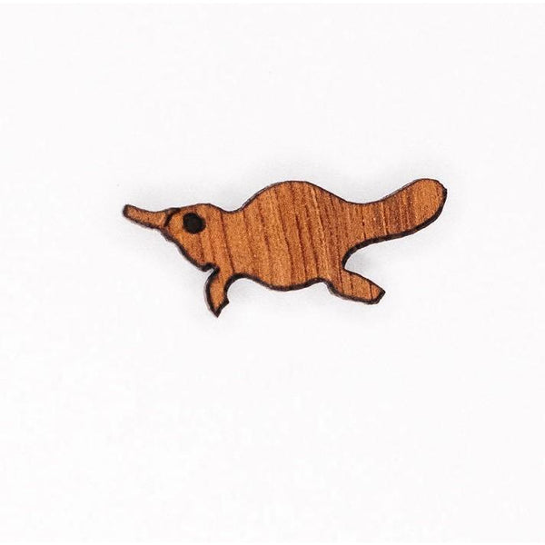 Platypus earrings Australian gift made from native timber
