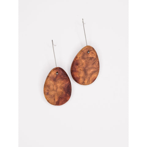 Native red mallee timber drop earrings