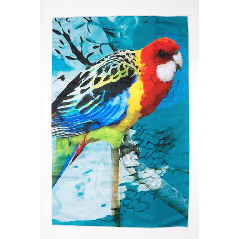 Eastern Rosella Tea Towel - Stylish Australiana - Ethical Australian Gifts and Souvenirs