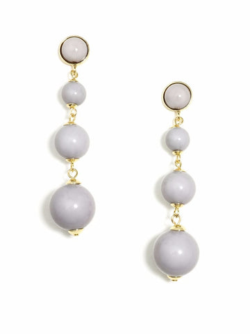 Gray Radiant Ball Drop Earrings