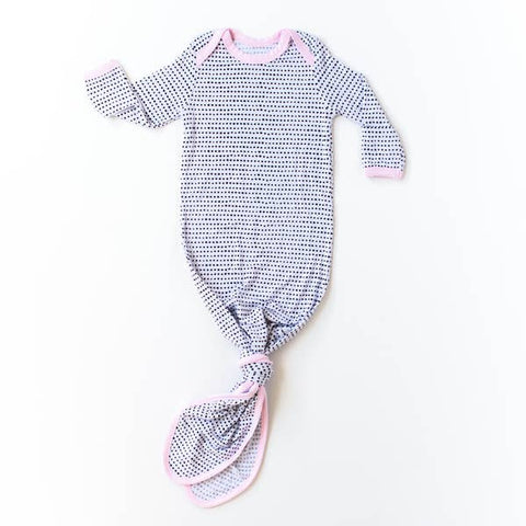Dots - Pink Infant Knotted Gown