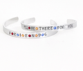 FRIENDS I'll be There for You Hand Stamped Birthstone Adjustable Cuff Bracelet