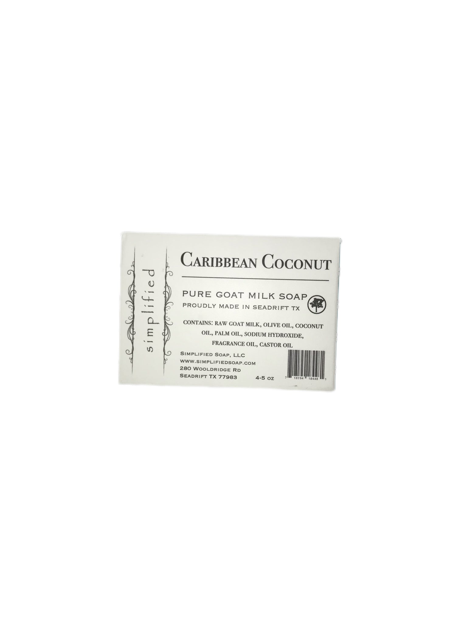 Caribbean Coconut Goat's Milk Bar Soap