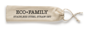 Eco-Family Stainless Steel Straw Set
