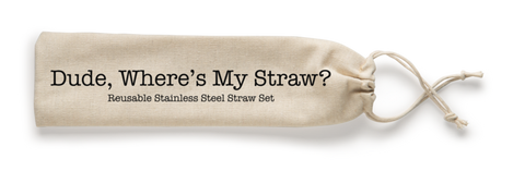 Dude! Where's My Straw? Stainless Steel Straw Set