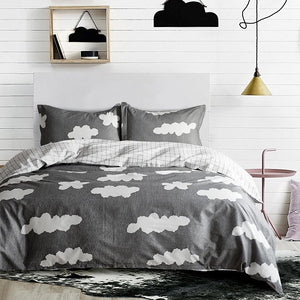 Reversible Oversized Bedding Quilt Bedspread - 3pcs