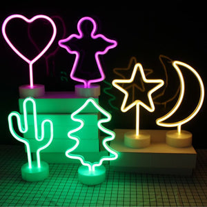 Decorative Neon Light with Holder Base