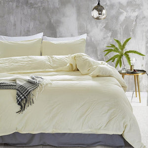 Comfort Cotton Solid Bedspread - 3pcs