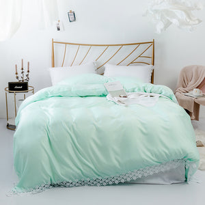 Soft Lace Bedspread Bedding Set - 3pcs